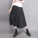 skirt Spring 2021 S M L black longuette commute High waist Fluffy skirt Solid color Type A 30-34 years old 91% (inclusive) - 95% (inclusive) UU.MP cotton pocket Simplicity Cotton 95% polyurethane elastic fiber (spandex) 5% Pure e-commerce (online only)