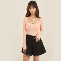 skirt Spring 2021 S,M,L Suit skirt Short skirt commute High waist Pleated skirt Solid color Type A 18-24 years old XM-A1427 81% (inclusive) - 90% (inclusive) other Egg laying meow Retro