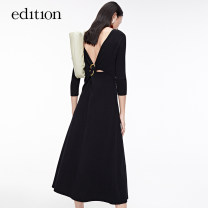 Dress Spring 2021 black XS/155 S/160 M/165 L/170 XL/175 longuette 25-29 years old edition EBA1DRS018 30% and below nylon Viscose (viscose) 69.9% polyamide (nylon) 30.1% Same model in shopping mall (sold online and offline)