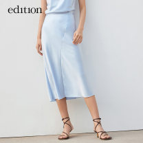 skirt Summer 2021 XS/155 S/160 M/165 L/170 XL/175 Mid length dress Natural waist 25-29 years old 30% and below edition polyester fiber Same model in shopping mall (sold online and offline)