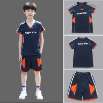 suit 110cm 120cm 130cm 140cm 150cm 160cm 170cm 180cm male summer motion Short sleeve + pants 2 pieces Thin money There are models in the real shooting Socket nothing Solid color chemical fiber children Expression of love Class B Polyester 90% other 10% Summer 2020 Chinese Mainland Guangdong Province