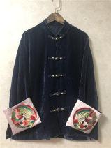 short coat Autumn of 2019 S,M,L,XL,2XL Dark green, precious blue