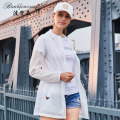 Outdoor sports windbreaker Bonbfenssan / bofansson six thousand seven hundred and fifty Six hundred and fifty-eight female 501-1000 yuan Silver gray white light pink light blue SMLXL2XL Spring autumn summer Air permeability and quick drying Summer of 2018 Medium length China nylon Urban outdoor yes