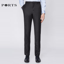 Western-style trousers Ports Business gentleman BLACK 50C 50B 50A 46A 52C 52B 56A 52A 48A 48B 54A 54C MA9DP005FWW012 trousers Other 100% easy autumn Home youth Business Formal  Autumn of 2018 other other