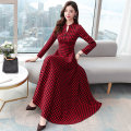 Women's large Spring 2020 Red check black and white check M L XL 2XL 3XL Dress singleton  commute easy Socket Long sleeves lattice Korean version MYS306 Wonderful jade dress 35-39 years old longuette Other 100% Pure e-commerce (online only)