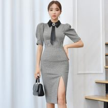 Fashion suit Spring 2021 S,M,L,XL Thousand bird grid (suit with bow tie) 25-35 years old 81% (inclusive) - 90% (inclusive) nylon