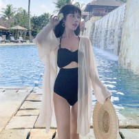 short coat Summer 2020 Average size White apricot Long sleeves Medium length Thin money singleton  Shawl type Versatile pagoda sleeve V-neck Solid color 18-24 years old Princess Yong 96% and above PYUO45622 other Other 100% Pure e-commerce (online only)