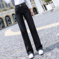 Jeans Autumn 2020 black 26 27 28 29 30 trousers High waist Wide legged trousers routine 25-29 years old washing Cotton elastic denim Dark color 8256YK#1 Xuelaisaiqi 91% (inclusive) - 95% (inclusive) Cotton 97% polyethylene terephthalate (polyester) 2% polyurethane elastic fiber (spandex) 1%