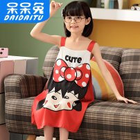 Home skirt / Nightgown Dull rabbit Polyester 96% polyurethane elastic fiber (spandex) 4% summer female Remove moisture and sweat 12943-614611 Chinese Mainland Guangdong Province Dongguan City