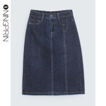 skirt Autumn 2020 S M L 2XL Wash water blue Mid length dress commute Natural waist Denim skirt 30-34 years old n09292q 81% (inclusive) - 90% (inclusive) Denim Ningprin / Ning Jing cotton Make old Korean version Cotton 86% polyester 11% polyurethane elastic 3% Pure e-commerce (online only)