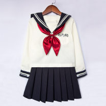suit Other / other 100cm,110cm,120cm,130cm,140cm,150cm,160cm,170cm female No season college Long sleeve + skirt 2 pieces routine No model Socket nothing Solid color cotton children Expression of love Class B Cotton 85% polyester 15% 2, 3, 4, 5, 6, 7, 8, 9, 10, 11, 12, 13, 14 years old Foshan City