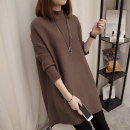 sweater Winter of 2018 S M L XL Coffee Caramel Navy green black Long sleeves Socket singleton  Medium length other 95% and above Half high collar Regular commute routine Solid color Straight cylinder Regular wool Keep warm and warm Bei Xueli BXL1555A Other 100% Pure e-commerce (online only)