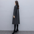 woolen coat Winter 2020 S M L Dark grey Navy Blue Athens black sisters Navy Blue [smaller size recommended] sisters black [pre-sale 30 days] wool 95% and above Medium length Long sleeves commute Single breasted routine square neck Solid color Straight cylinder Korean version KF20Q008002 Coffee Mary