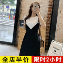 Women's large Spring 2021 black suit  Dress Two piece set commute easy moderate Socket Short sleeve Solid color Korean version Crew neck routine eight - 28X2046 Eileen 18-24 years old Short skirt Polyester 95% polyurethane elastic fiber (spandex) 5% Pure e-commerce (online only)