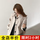 woolen coat Spring 2021 S M L XL 2XL 3XL 4XL Beige JH (soft wear) polyester 95% and above Medium length Long sleeves commute Single breasted routine square neck Solid color Korean version 12-21C5331MS-XX Eileen 18-24 years old Pocket button Solid color Polyester 100% Pure e-commerce (online only)