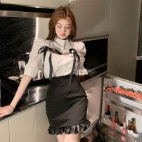 Fashion suit Summer 2021 S. M, l, average size Shirt, skirt 18-25 years old 31% (inclusive) - 50% (inclusive) polyester fiber