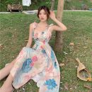 Dress Spring 2021 Picture color S, M Mid length dress singleton  Sleeveless commute other Big flower Socket other other camisole 18-24 years old Type A Korean version 31% (inclusive) - 50% (inclusive)