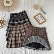 skirt Spring 2021 S,M,L,XL Khaki grid, dark gray grid, black grid, khaki grid, coffee grid Short skirt commute High waist Pleated skirt lattice Type A 18-24 years old 31% (inclusive) - 50% (inclusive) Wool polyester fiber Korean version