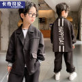 suit Cachicolon Grey green black 120cm 130cm 140cm 150cm 160cm 170cm male spring and autumn Britain Long sleeve + pants 2 pieces routine There are models in the real shooting Single breasted nothing Solid color other children Expression of love KL21TZ21018 Class B Other 100% Spring 2021 Jiaxing City