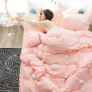 Bedding Set / four piece set / multi piece set cotton Embroidery Others 133x72 Jando cotton 4 pieces 40 Bed skirt Qualified products Princess style 100% cotton other