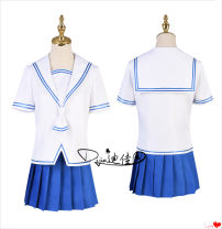 Cosplay women's wear suit goods in stock Over 8 years old The women's set includes [top + skirt + bow tie] headdress + medium socks, and the men's set includes [top + skirt + bow tie] headdress + medium socks comic 50. M, s, XL, customized Dijia animation cos Fruits Basket