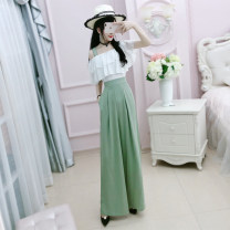 Fashion suit Summer of 2019 S small spot ~ m small spot ~ l small spot ~ XL small spot~ Green (without belt) 25-35 years old The fate of July 7 QA9T07 Polyester 100% Pure e-commerce (online only)