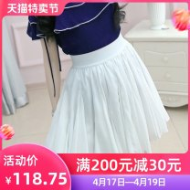 skirt Summer of 2019 S M L XL white Short skirt Versatile High waist A-line skirt Solid color Type X 25-29 years old QA9Q137 More than 95% The fate of July 7 polyester fiber Three dimensional decoration with pleats Polyester 100% Pure e-commerce (online only)