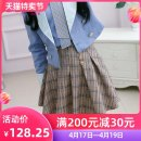 skirt Autumn of 2019 S M L XL lattice Short skirt Versatile High waist A-line skirt lattice Type X 25-29 years old More than 95% The fate of July 7 polyester fiber Polyester 100% Pure e-commerce (online only)