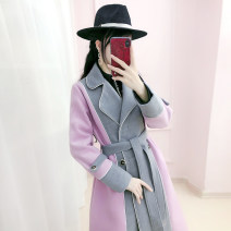 woolen coat Winter 2020 S M L XL Pink grey polyester 81% (inclusive) - 90% (inclusive) have more cash than can be accounted for Long sleeves commute Frenulum routine tailored collar Solid color Self cultivation Simplicity QB0W17 The fate of July 7 25-29 years old Solid color