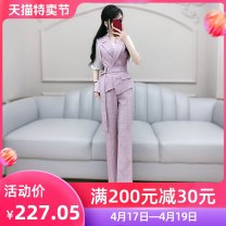 Professional pants suit lavender S M L XL Summer 2020 loose coat elbow sleeve QB0T23 trousers The fate of July 7 25-35 years old Polyester fiber 70% viscose fiber (viscose fiber) 25% polyurethane elastic fiber (spandex) 5% Exclusive payment of tmall