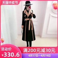woolen coat Winter 2020 S M L XL black polyester 81% (inclusive) - 90% (inclusive) have more cash than can be accounted for Long sleeves commute Single breasted routine tailored collar Solid color Self cultivation Britain QB0W18 The fate of July 7 25-29 years old Solid color