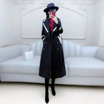 woolen coat Winter 2020 S M L XL black polyester 81% (inclusive) - 90% (inclusive) have more cash than can be accounted for Long sleeves commute double-breasted routine tailored collar Solid color Self cultivation Britain QB0W19 The fate of July 7 25-29 years old Solid color