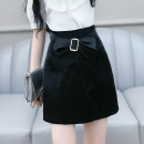 skirt Summer 2020 S M L XL black Short skirt Versatile High waist A-line skirt Solid color Type X 25-29 years old QB0Q59 More than 95% The fate of July 7 polyester fiber Three dimensional decorative zipper with bow and tuck Polyester 100% Exclusive payment of tmall