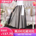 skirt Summer of 2018 S M L XL black Mid length dress Versatile High waist A-line skirt Solid color Type X 25-29 years old QA8Q46 More than 95% The fate of July 7 nylon Lace with ruffles and pleats Polyamide fiber (nylon) 100% Pure e-commerce (online only)