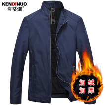 Jacket Kentino Fashion City 170/M 175/L 180/XL 185/XXL 190/XXXL 195/XXXXL thin easy Other leisure spring SJB03 Polyester 100% Long sleeves Wear out stand collar Business Casual middle age routine Zipper placket Straight hem No iron treatment Closing sleeve Solid color polyester fiber Spring 2017