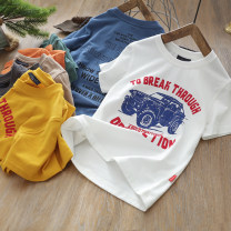 T-shirt White, dark gray, yellow, orange, green, blue, coffee Other / other 110cm,120cm,130cm,140cm,150cm,160cm male summer Short sleeve Crew neck leisure time nothing cotton Cotton 95% polyurethane elastic fiber (spandex) 5% Class B other Chinese Mainland Shandong Province Qingdao
