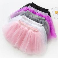 skirt 100cm 110cm 120cm 130cm 140cm 150cm White pink black grey Jiali cat female Polyester 100% No season skirt Korean version Solid color Cake skirt skirt Class B Summer of 2019