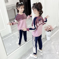 suit Jiali cat 110cm 120cm 130cm 140cm 150cm 160cm female spring and autumn leisure time Long sleeve + pants 2 pieces routine There are models in the real shooting Socket nothing Cartoon animation cotton children Giving presents at school Cotton 83% polyurethane elastic fiber (spandex) 17%