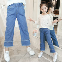 trousers Kumi female 110cm,120cm,130cm,140cm,150cm,160cm spring and autumn trousers Korean version There are models in the real shooting Casual pants Leather belt middle-waisted Don't open the crotch Cotton 95% polyurethane elastic fiber (spandex) 5%