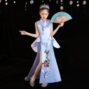 Children's dress blue female 100cm 110cm 120cm 130cm 140cm 150cm 160cm Chibi house full dress qbw202151 Class B other Other 100% Summer 2021 2 years old, 3 years old, 4 years old, 5 years old, 6 years old, 7 years old, 8 years old, 9 years old, 10 years old, 12 years old, 13 years old, 14 years old
