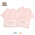 T-shirt White yellow red green black color blue pink S M XL L 2XL 3XL Spring of 2019 Short sleeve Crew neck easy Regular Wrap sleeves commute cotton 96% and above 18-24 years old Korean version youth Animal design Ohlyah OLY-CP6017 printing Cotton 100% Pure e-commerce (online only)