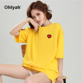 T-shirt Color blue pink white yellow red green black S M L XL 2XL 3XL Spring of 2019 Short sleeve Crew neck easy Regular routine commute cotton 96% and above 18-24 years old Korean version youth Animal design Ohlyah OLY-CP6053 printing Cotton 100% Pure e-commerce (online only)