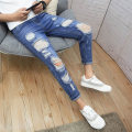 Jeans Youth fashion Viettolons 28 29 30 31 32 33 34 A859 dark blue a860 blue a861 blue 207 blue 229 light blue 229 dark blue a813 light blue a813 gray blue a859 light blue routine Micro bomb Regular denim A859# Ninth pants Cotton 88.3% viscose (viscose) 10.9% polyester 0.8% spring teenagers Slim feet