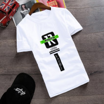 T-shirt Youth fashion routine S M L XL XXL Viettolons Short sleeve Crew neck Self cultivation daily summer Polyester 95% polyurethane elastic fiber (spandex) 5% teenagers routine tide Summer of 2019 printing washing