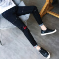 Jeans Youth fashion Viettolons 28 29 30 31 32 33 34 routine Micro bomb Regular denim Ninth pants Cotton 77% polyester 22% polyurethane elastic fiber (spandex) 1% summer teenagers Medium low back Slim feet tide 2018 Pencil pants zipper washing Summer of 2018 cotton Pure e-commerce (online only)