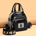 Bag The single shoulder bag PU other Other / other brand new Japan and South Korea Small leisure time soft zipper no Solid color Single root One shoulder cross carry youth Vertical square Color contrast Soft handle polyester fiber Zipper bag, mobile phone bag, certificate bag soft surface
