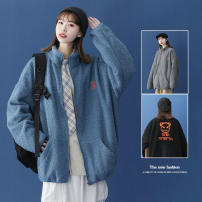 cotton-padded clothes Black blue dark grey fizze M L XL 2XL 3XL Youth fashion thickening have cash less than that is registered in the accounts easy Other leisure Y.116 Polyester 100% stand collar youth zipper tide Cloth hem Winter 2020 Arrest line Pure e-commerce (online only) autumn