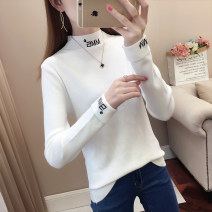 sweater Autumn 2020 S M L XL Long sleeves Socket singleton  Regular other 95% and above Half high collar thickening commute other Solid color Straight cylinder Fine wool hygroscopic and sweat releasing Autumn blossoms Other 100% Pure e-commerce (online only)