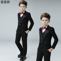 Suit / Blazer 100cm 110cm 120cm 130cm 140cm 150cm 160cm 170cm Praise me male There are models in the real shooting Britain No season Solid color Single breasted routine Class B Polyester 80% viscose 20% Fall 2017