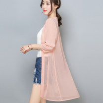 Lace / Chiffon Summer 2020 Black white sky blue meat pink bean green light pink olive green orange water green light purple One size fits all (suitable for 80-140 kg mm) Long sleeves commute Cardigan singleton  easy Medium length other Solid color routine 25-29 years old Manna F0012 Korean version